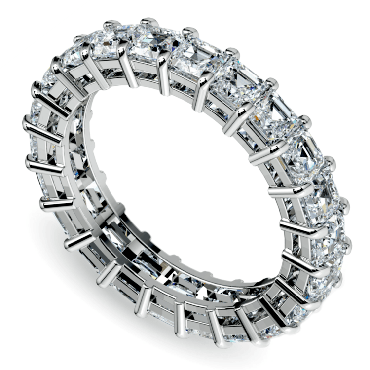 Asscher Diamond Eternity Ring in White Gold (3 3/4 ctw) | 01