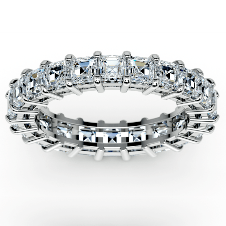 Asscher Diamond Eternity Ring in White Gold (3 3/4 ctw) | 02