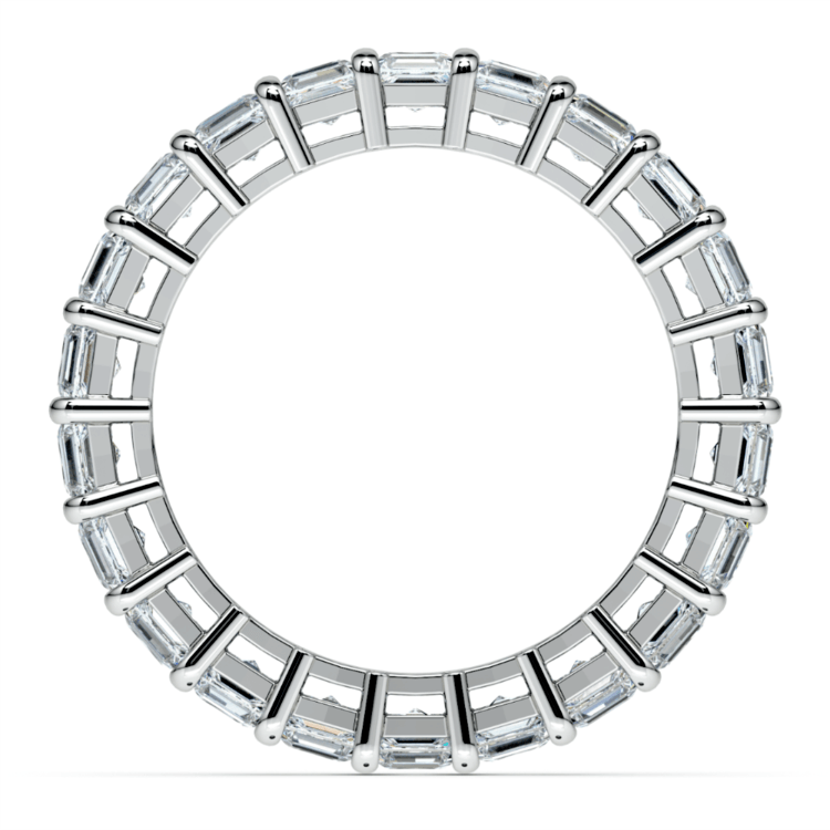 Asscher Diamond Eternity Ring in White Gold (3 3/4 ctw) | 03