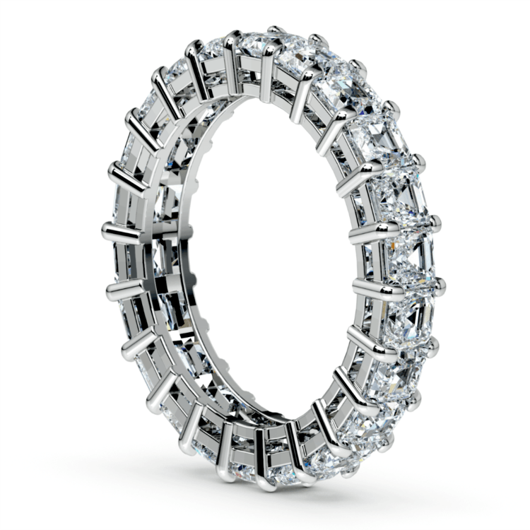 Asscher Diamond Eternity Ring in White Gold (3 3/4 ctw) | 04