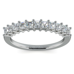 Asscher Eleven Diamond Wedding Band in Platinum (1/2 ctw) | Thumbnail 02