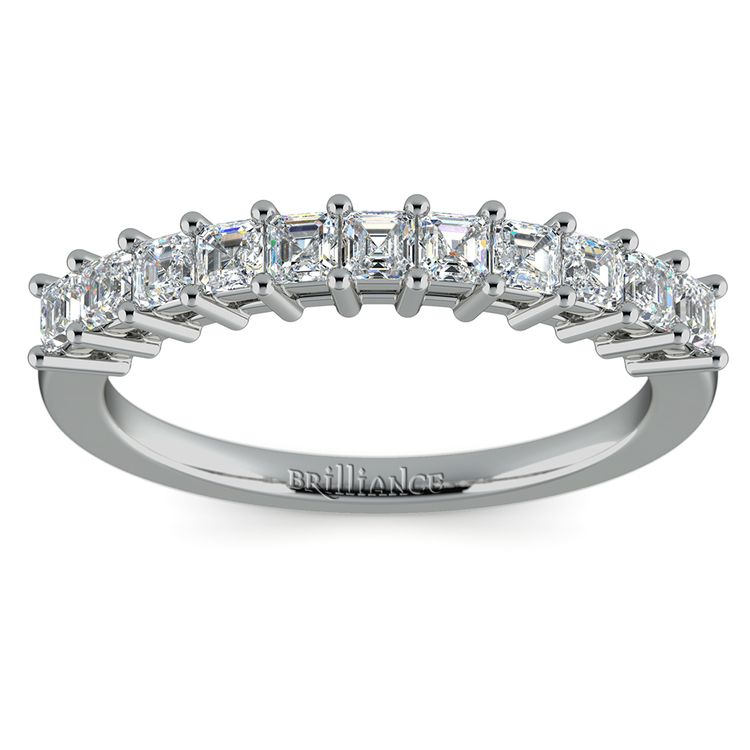 Asscher Eleven Diamond Wedding Band in Platinum (1/2 ctw) | 02