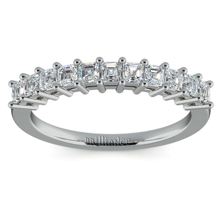 Asscher Eleven Diamond Wedding Band in White Gold (1/2 ctw) | 02