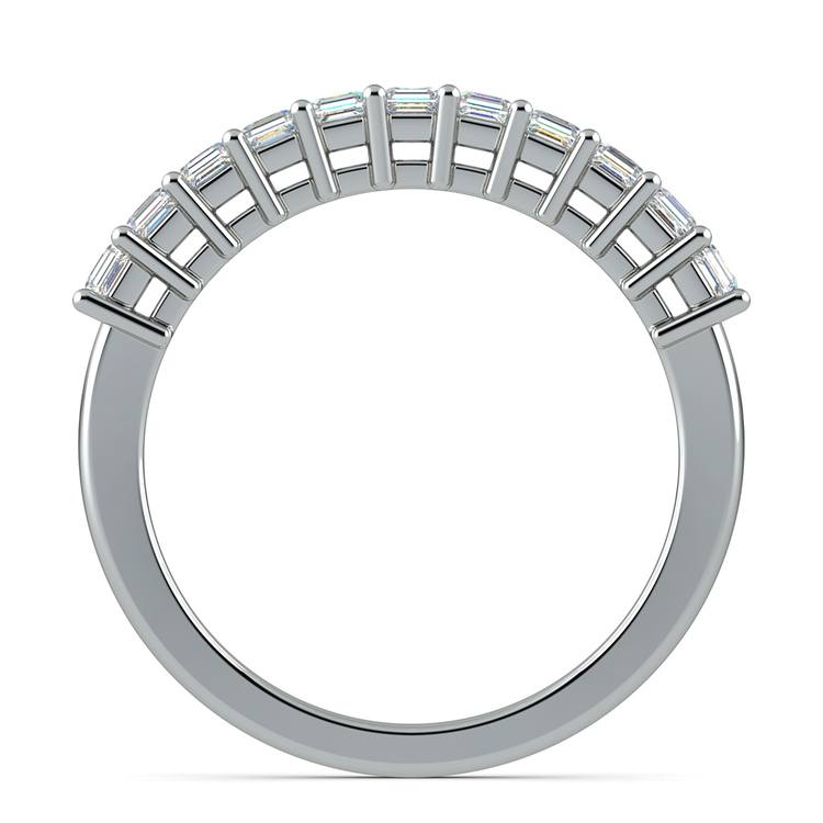 Asscher Eleven Diamond Wedding Band in White Gold (1/2 ctw) | 03