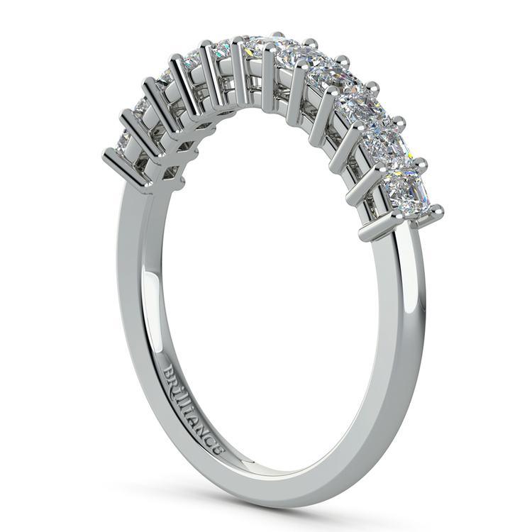 Asscher Eleven Diamond Wedding Band in White Gold (1/2 ctw) | 04