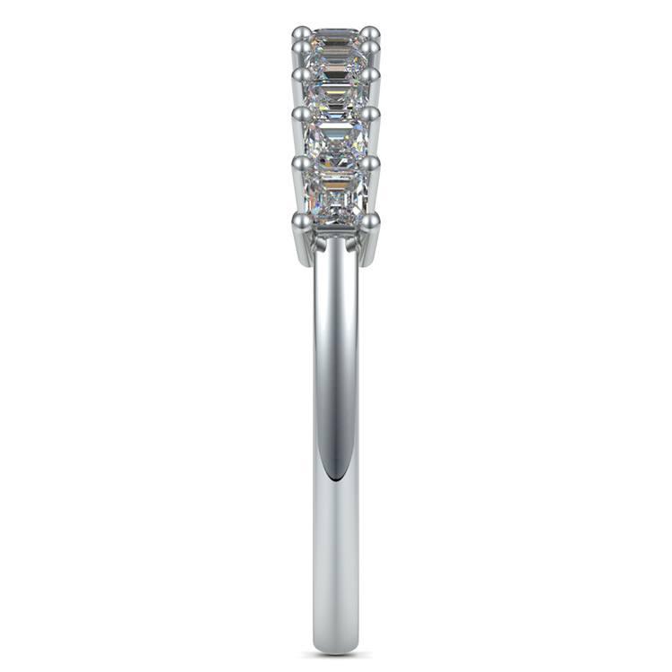 Asscher Eleven Diamond Wedding Band in White Gold (1/2 ctw) | 05
