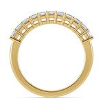 Asscher Eleven Diamond Wedding Band in Yellow Gold (1/2 ctw) | Thumbnail 03