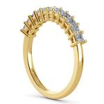 Asscher Eleven Diamond Wedding Band in Yellow Gold (1/2 ctw) | Thumbnail 04
