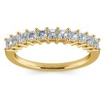 Asscher Eleven Diamond Wedding Band in Yellow Gold (1/2 ctw) | Thumbnail 02