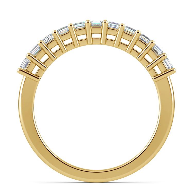 Asscher Eleven Diamond Wedding Band in Yellow Gold (1/2 ctw) | 03