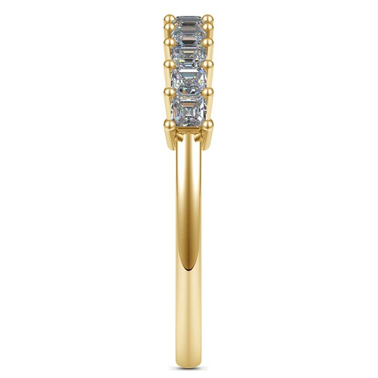 Asscher Eleven Diamond Wedding Band in Yellow Gold (1/2 ctw) | 05