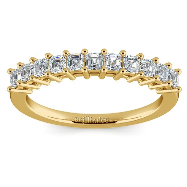 Asscher Eleven Diamond Wedding Band in Yellow Gold (1/2 ctw) | 02
