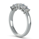 Asscher Five Diamond Wedding Ring in Platinum (1 ctw) | Thumbnail 04