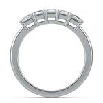 Asscher Five Diamond Wedding Ring in White Gold (1 ctw) | Thumbnail 03