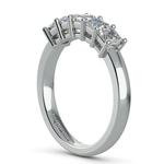 Asscher Five Diamond Wedding Ring in White Gold (1 ctw) | Thumbnail 04