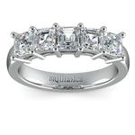 Asscher Five Diamond Wedding Ring in Platinum (2 ctw)   Thumbnail 02