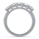 Asscher Five Diamond Wedding Ring in Platinum (2 ctw)   Thumbnail 03