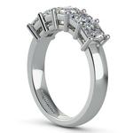 Asscher Five Diamond Wedding Ring in Platinum (2 ctw)   Thumbnail 04