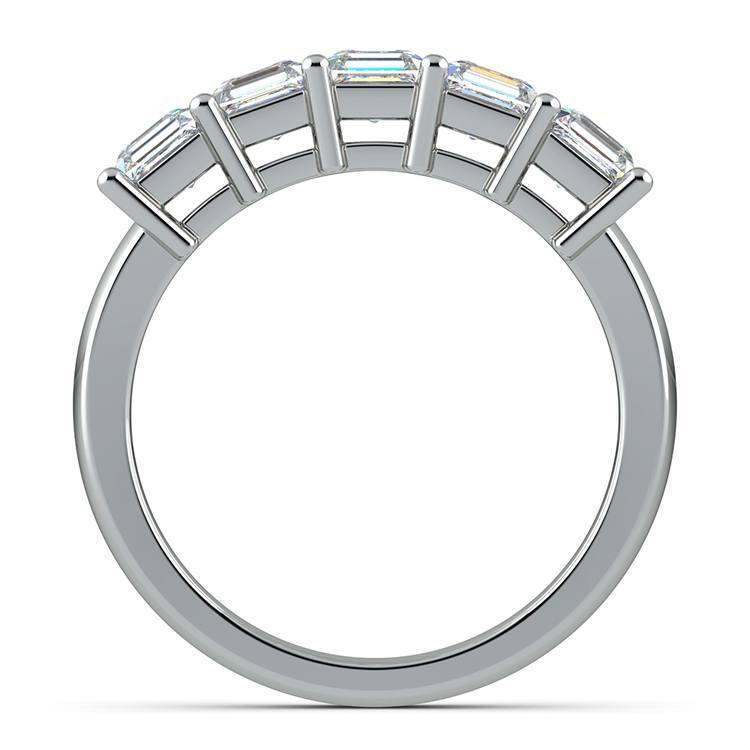Asscher Five Diamond Wedding Ring in Platinum (2 ctw)   03