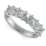 Asscher Seven Diamond Wedding Ring in Platinum (1 1/2 Ctw) | Thumbnail 01