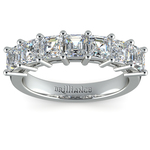 Asscher Seven Diamond Wedding Ring in Platinum (1 1/2 Ctw) | Thumbnail 02
