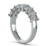 Asscher Seven Diamond Wedding Ring in Platinum (1 1/2 Ctw) | Thumbnail 04