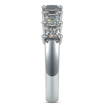 Asscher Seven Diamond Wedding Ring in Platinum (1 1/2 Ctw) | Thumbnail 05