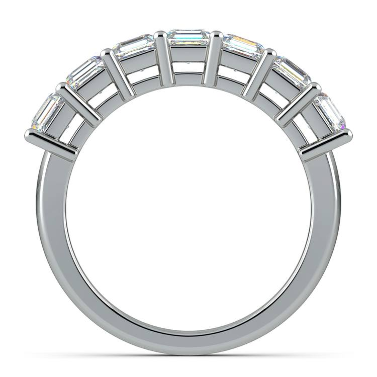 Asscher Seven Diamond Wedding Ring in Platinum (1 1/2 Ctw) | 03