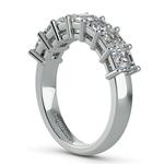 Asscher Seven Diamond Wedding Band in White Gold (1 1/2 Ctw) | Thumbnail 04