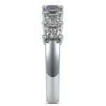 Asscher Seven Diamond Wedding Band in White Gold (1 1/2 Ctw) | Thumbnail 05