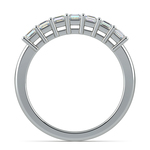 Asscher Seven Diamond Wedding Ring in White Gold (3/4 ctw) | Thumbnail 03