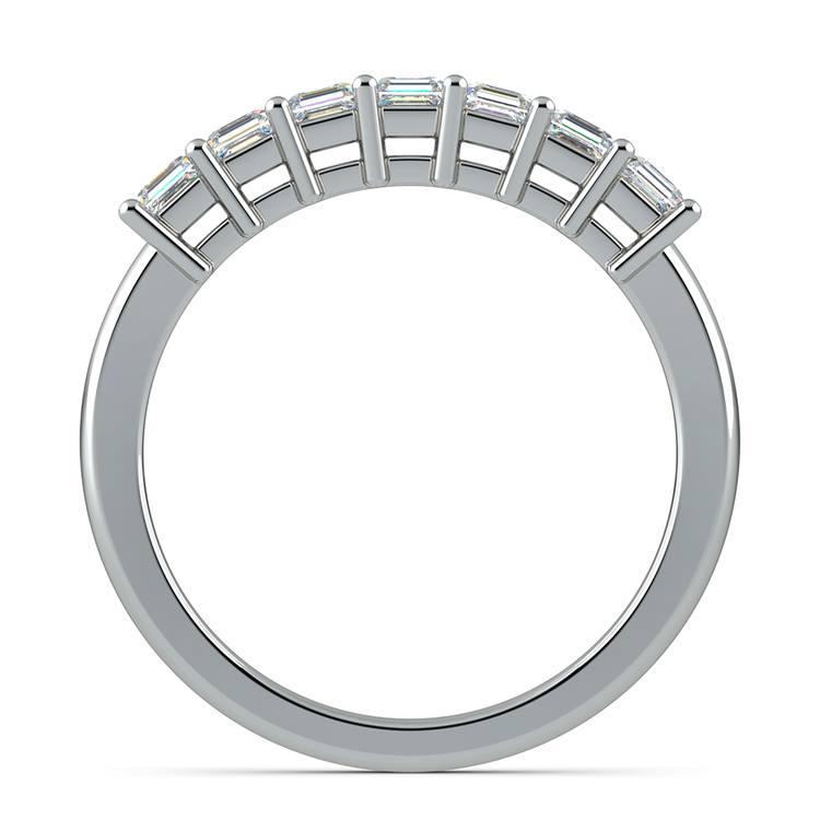 Asscher Seven Diamond Wedding Ring in White Gold (3/4 ctw) | 03