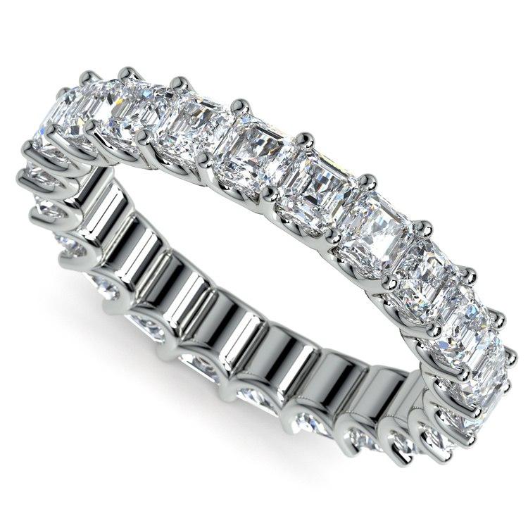 Asscher U-Prong Diamond Eternity Ring in Platinum (4 ctw) | 01