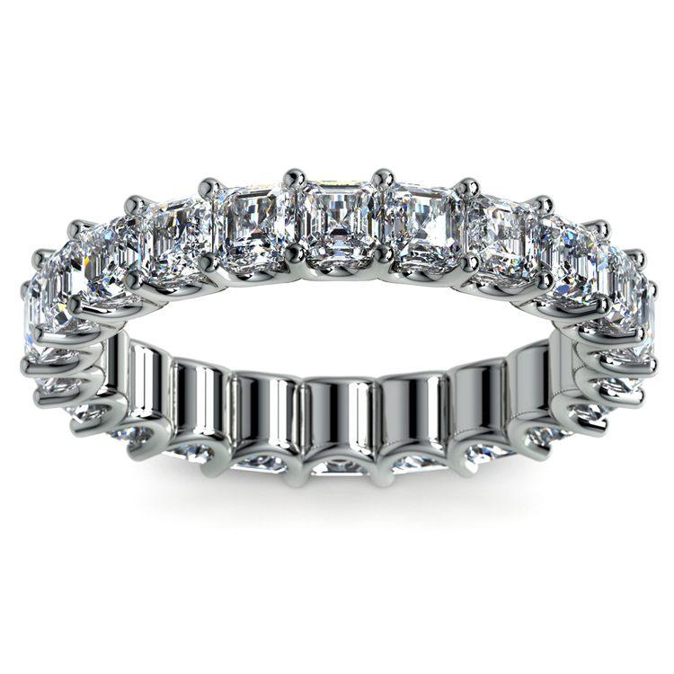 Asscher U-Prong Diamond Eternity Ring in Platinum (4 ctw) | 02