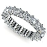 Asscher U-Prong Diamond Eternity Ring in Platinum (6 ctw) | Thumbnail 01