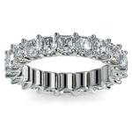 Asscher U-Prong Diamond Eternity Ring in Platinum (6 ctw) | Thumbnail 02