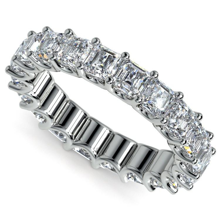 Asscher U-Prong Diamond Eternity Ring in Platinum (6 ctw) | 01