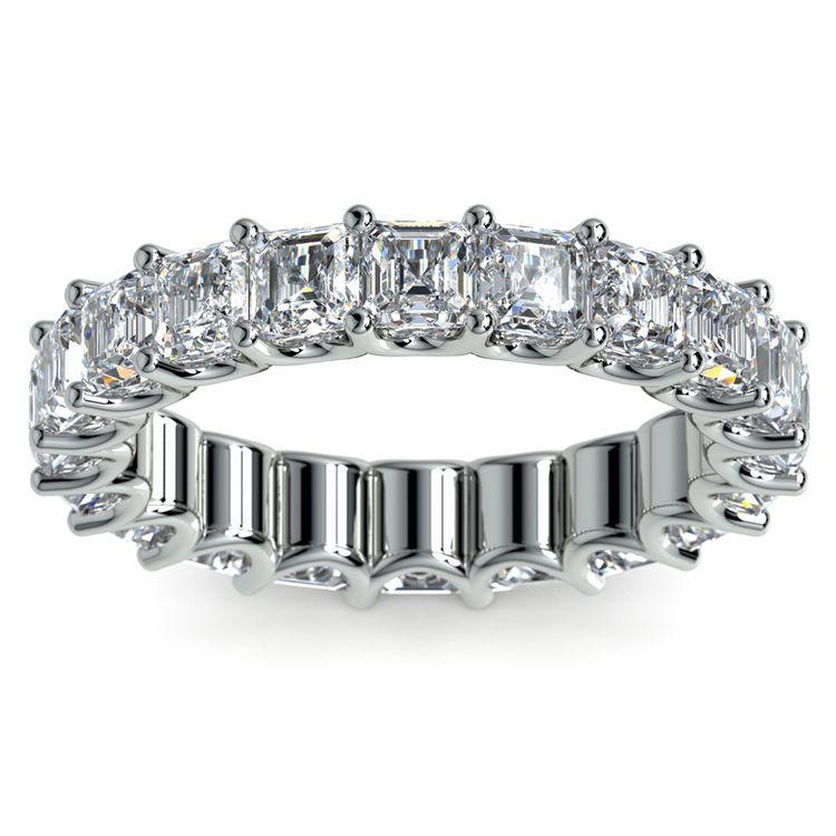 Asscher U-Prong Diamond Eternity Ring in Platinum (6 ctw) | 02