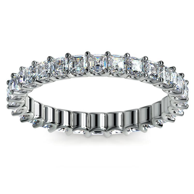 Asscher U-Prong Diamond Eternity Ring in Platinum (2 ctw) | 02