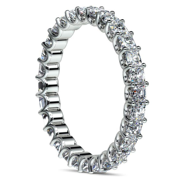Asscher U-Prong Diamond Eternity Ring in Platinum (2 ctw) | 04