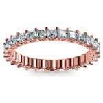 Asscher U-Prong Diamond Eternity Ring in Rose Gold (2 ctw) | Thumbnail 02
