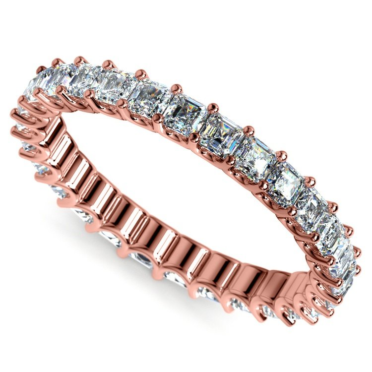 Asscher U-Prong Diamond Eternity Ring in Rose Gold (2 ctw) | 01