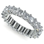 Asscher U-Prong Diamond Eternity Ring in White Gold (6 ctw) | Thumbnail 01