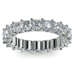 Asscher U-Prong Diamond Eternity Ring in White Gold (6 ctw) | Thumbnail 02