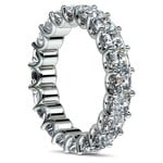 Asscher U-Prong Diamond Eternity Ring in White Gold (6 ctw) | Thumbnail 04