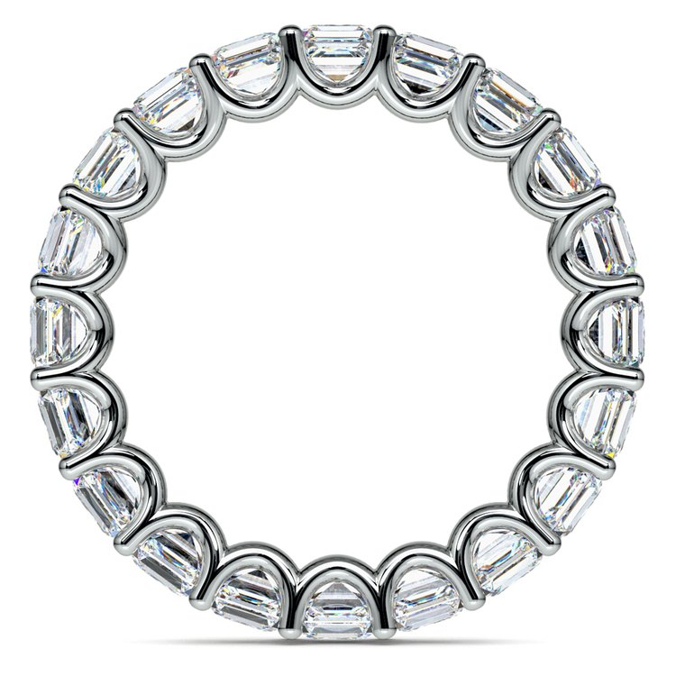 Asscher U-Prong Diamond Eternity Ring in White Gold (6 ctw) | 03