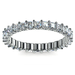 Asscher U-Prong Diamond Eternity Ring in White Gold (2 ctw) | Thumbnail 02