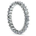 Asscher U-Prong Diamond Eternity Ring in White Gold (2 ctw) | Thumbnail 04