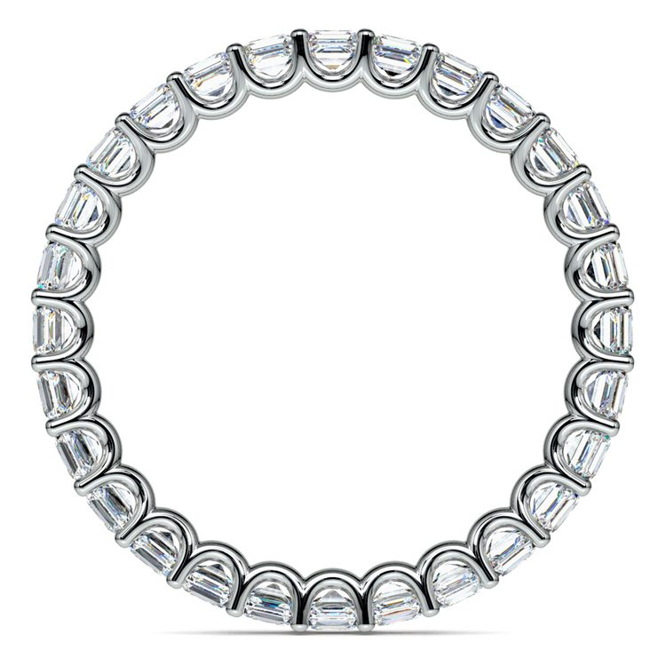 Asscher U-Prong Diamond Eternity Ring in White Gold (2 ctw) | 03