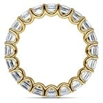 Asscher U-Prong Diamond Eternity Ring in Yellow Gold (6 ctw) | Thumbnail 03
